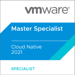 VMware Certified Master Specialist badge - Cloud Native 2021
